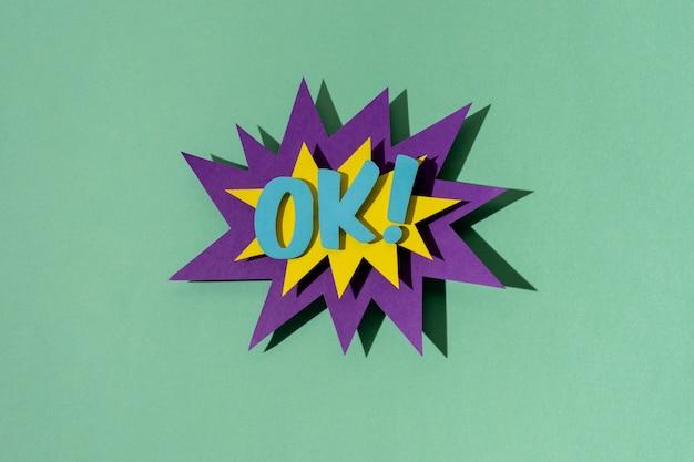 Układanie bańki mowy z płaskimi komiksami
