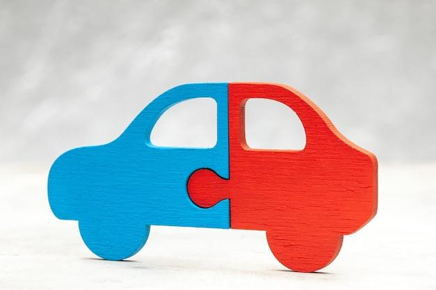 Układanka samochodowa. udostępnianie samochodów. części samochodu.