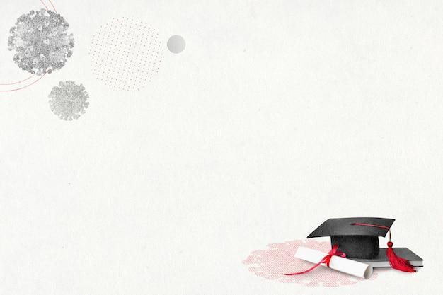 Ukończenie studiów w czasach covid-19 tła
