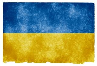 Ukraina flaga grunge