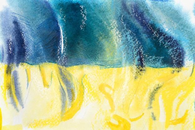 Ukraina, ukraińska flaga. ręcznie rysowane akwarela ilustracja.