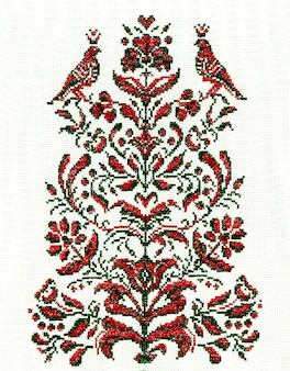 Ukraiński haft ludowa sztuka i rzemiosło