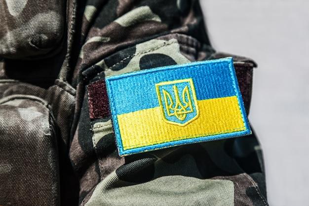 Ukraiński wojskowy szewron