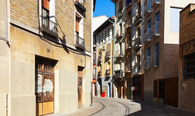 Ulica europejskiego miasta. pamplona