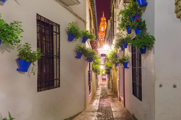 Ulica kwiatowa calleja de las flores cordoba, hiszpania