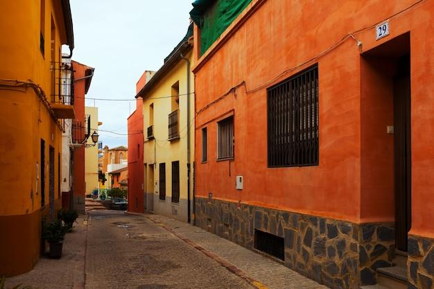 Ulica w europejskim mieście. sagunto