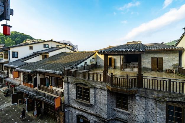 Ulice starożytnego miasta nanshan w chongqing