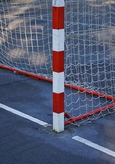 Uliczna piłka nożna bramka sprzęt sportowy miasto bilbao hiszpania