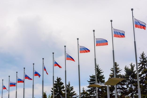 Uljanowsk, rosja - 25 maja 2018: flaga rosji