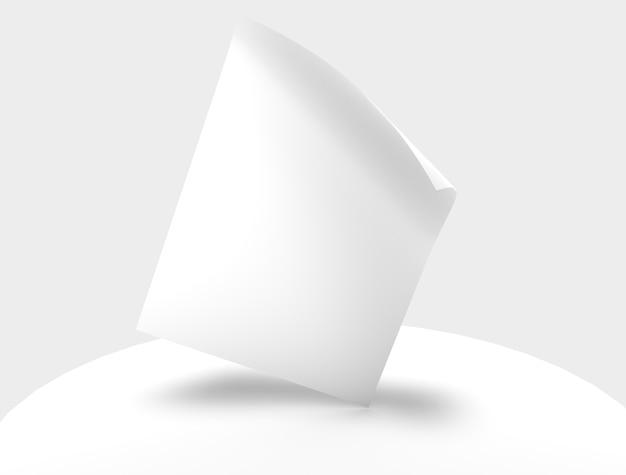 Ulotka plakat strona transparent makiety izolowany obiekt