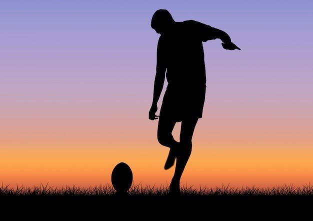 Umiejętności wyciągniętymi zmierzchu światła sportowy