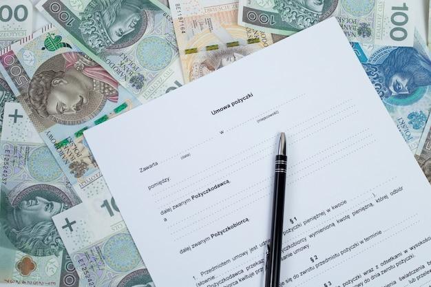 Umowa pożyczki i polskie pieniądze