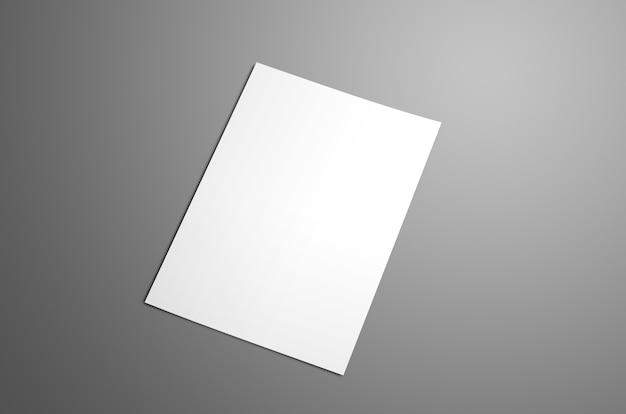 Uniwersalna pusta broszura bifold a4 a5 z miękkimi realistycznymi cieniami na szarym tle