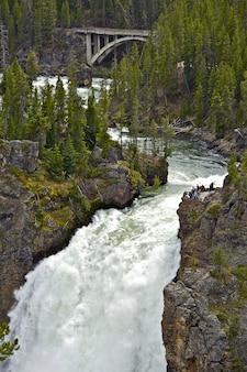 Upper falls w yellowstone