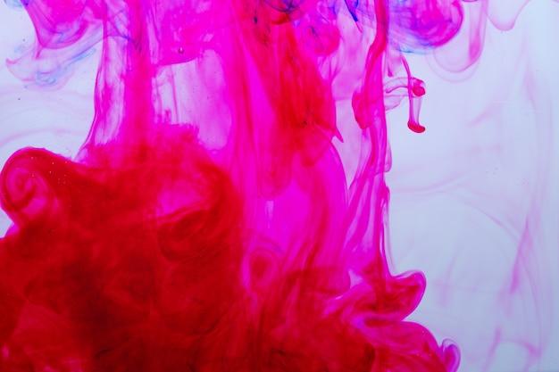 Upuść kolor atramentu w wodzie, kolor tła, teksturę dymu