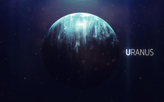 Uran - piękna grafika w wysokiej rozdzielczości przedstawia planetę układu słonecznego