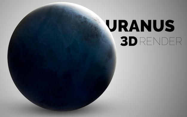 Uran. zestaw planet układu słonecznego renderowanych w 3d. elementy tego zdjęcia dostarczone przez nasa