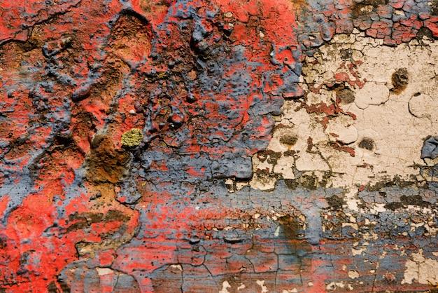 Urazy tekstury tła ściany ze stali nierdzewnej