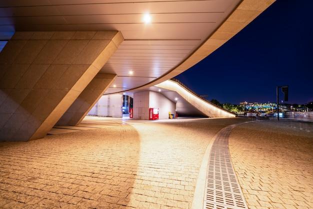 Urban nightscape nowoczesna architektura