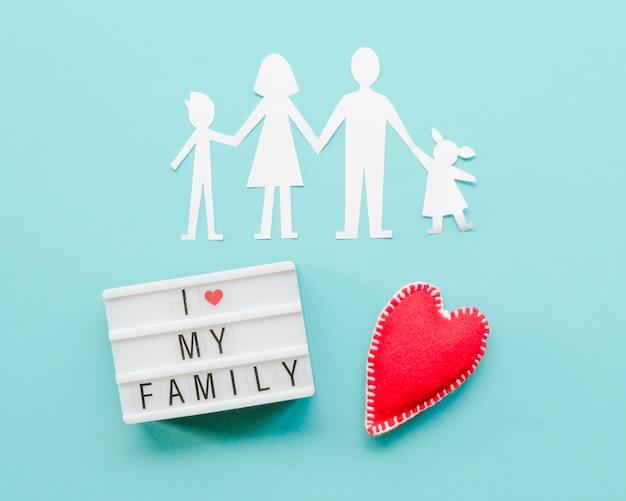 Urocza aranżacja papierowej rodziny