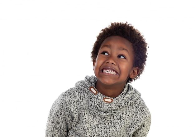 Urocze dziecko afroamerican myślenia