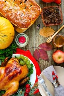 Uroczysta kolacja na święto dziękczynienia