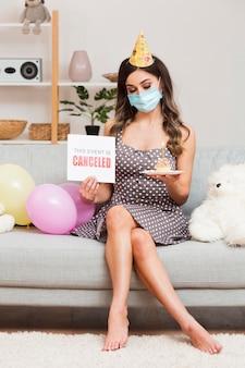 Urodziny dziewczyny przełożone z powodu wirusa