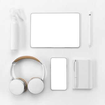 Urządzenia z widokiem z góry i układ notebooka