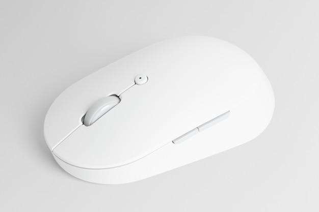 Urządzenie cyfrowe białej bezprzewodowej myszy optycznej