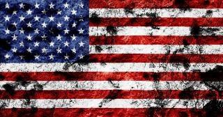 Usa flag grunge symbol