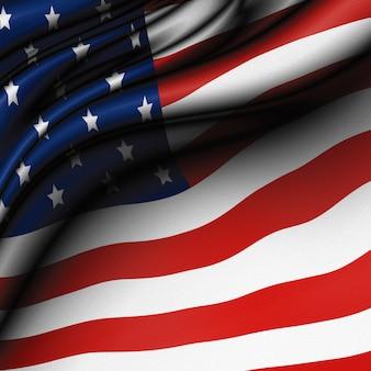 Usa lub amerykańskiej flagi tle