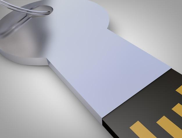 Usb klucz danych izolowany obiekt makiety