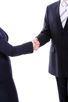 Uścisk dłoni dwóch partnerów biznesowych