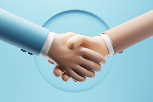 Uścisk dłoni partnerów biznesowych z udaną transakcją