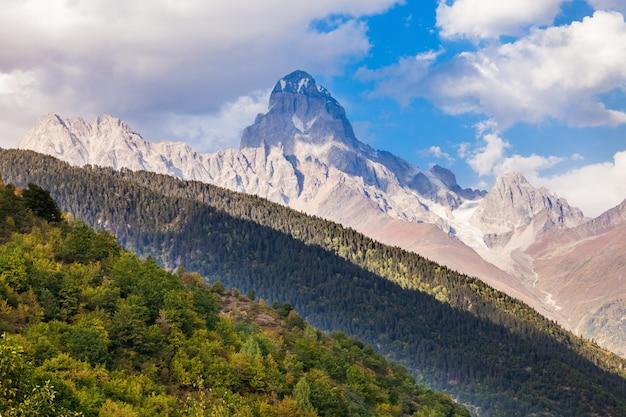 Ushba mountain, georgia