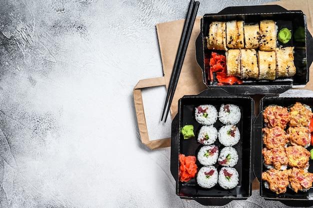 Usługa dostawy japońskie bułeczki w pudełku.