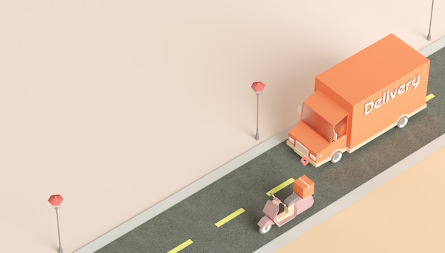 Usługa dostawy online ekspresowa koncepcja logistyczna
