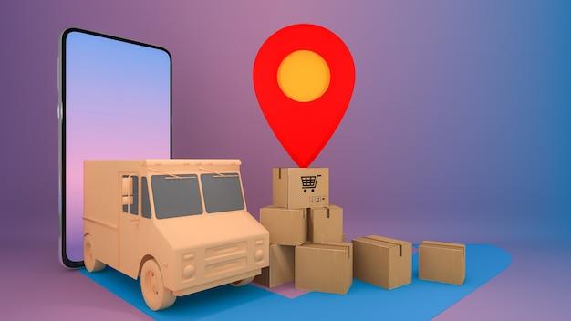 Usługa transportu zamówień online na aplikację mobilną