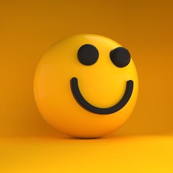 Uśmiech emoji 3d