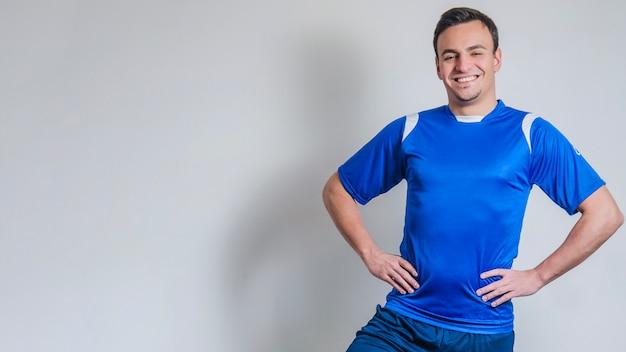 Uśmiechnięta lekkoatleta