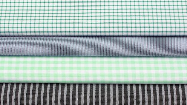 Ustaw inną teksturę tkaniny w kolorze bawełny. abstrakcja tła z fabrycznego materiału włókienniczego