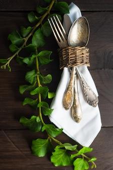 Ustawienie stołu rustykalnego