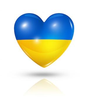 Uwielbiam ikonę flagi serca ukrainy