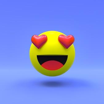 Uwielbiam twarz facebook 3d emoji