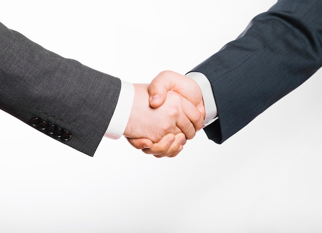 Uzgadnianie dwóch biznesmenów