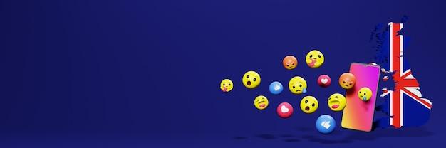 Użyj emoticon w anglii na potrzeby telewizji społecznościowej i tła strony internetowej, puste miejsce
