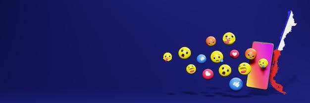 Użyj emoticon w chile na potrzeby telewizji społecznościowej i tła strony internetowej, puste miejsce