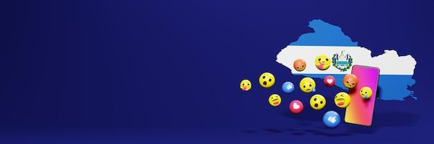 Użyj emoticon w el savador na potrzeby telewizji społecznościowej i tła strony internetowej, puste miejsce