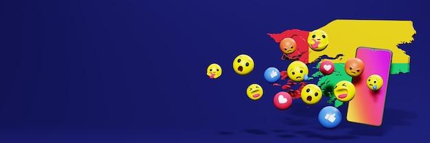 Użyj emoticon w gwinei na potrzeby telewizji społecznościowej i tła strony internetowej, puste miejsce