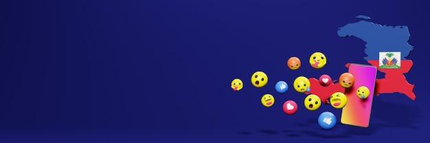 Użyj emotikon w hait na potrzeby telewizji społecznościowej i tła strony internetowej, puste miejsce